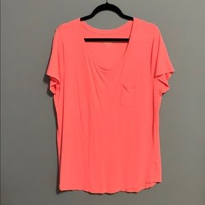 Pink Relaxed Pocket Tee